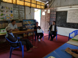Ms. Kamana Gurung interacting with, teachers of Rudrepipal Secondary School, Baglung Bazar