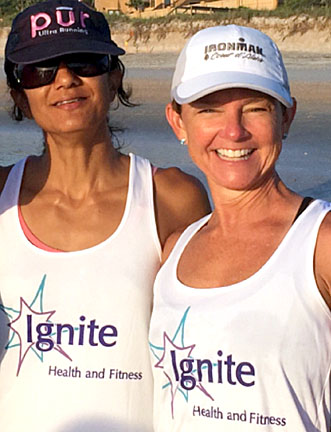 Sushma with Ignite Health and Fitness Coach, Heather Davenport.