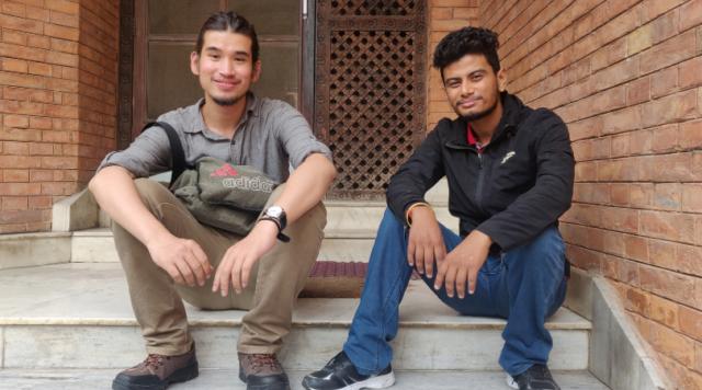 Ashraya Manandhar (L) and Prajwal Pokharel (R)