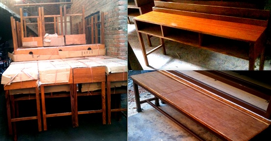 Furniture ready for dispatch