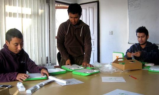 Busy testing XO laptops