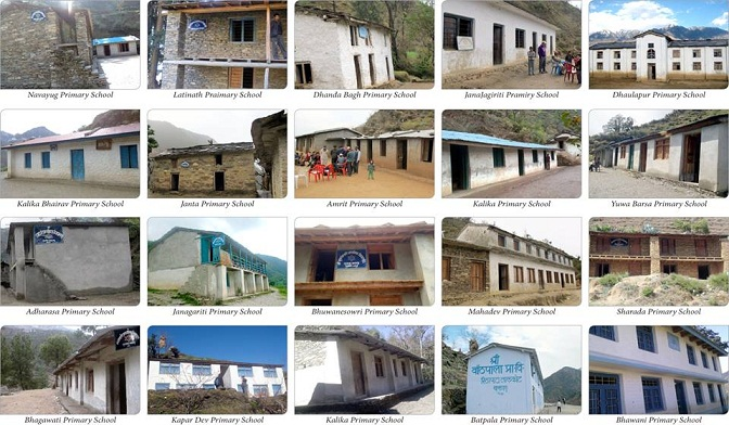 A collage of picture from twenty new primary school