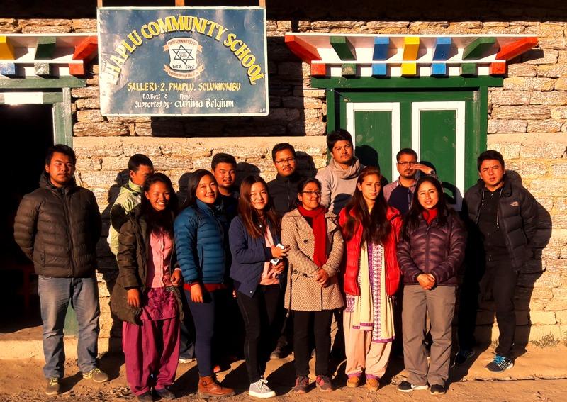 OLE Nepal's team with the teachers of Phaplu Community School